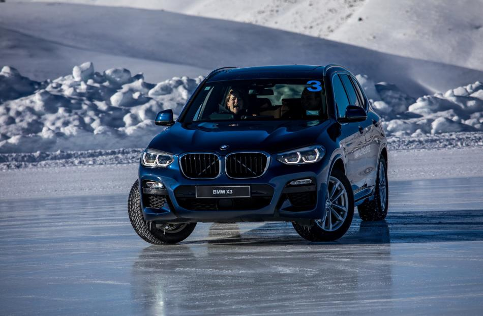 Sliding sideways on sheet ice at 20kmh can be fun.
