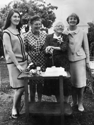 Julia was in her fifth year of medical school when this photo was taken (from left) of her with her aunty Nanci Harrison, her grandmother Olive Norman and her mother Anne Baird. Photos: Supplied