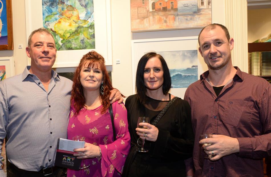 Adam Dennis and Meg McDowell, both of Mosgiel, and Rachel Sutton and Aidan Battrick, both of Dunedin.