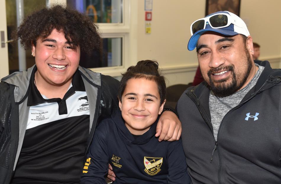 Niko, Luke (10) and John Tili, all of Dunedin.