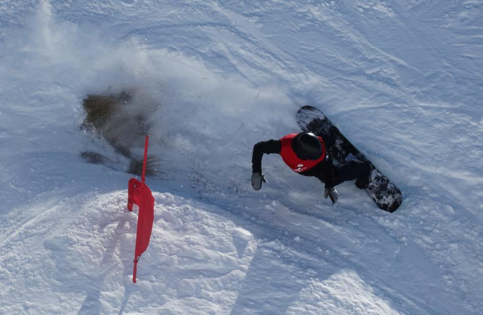 A protruding tussock on the slalom course didn't affect the performance of Richie Johnston, of...