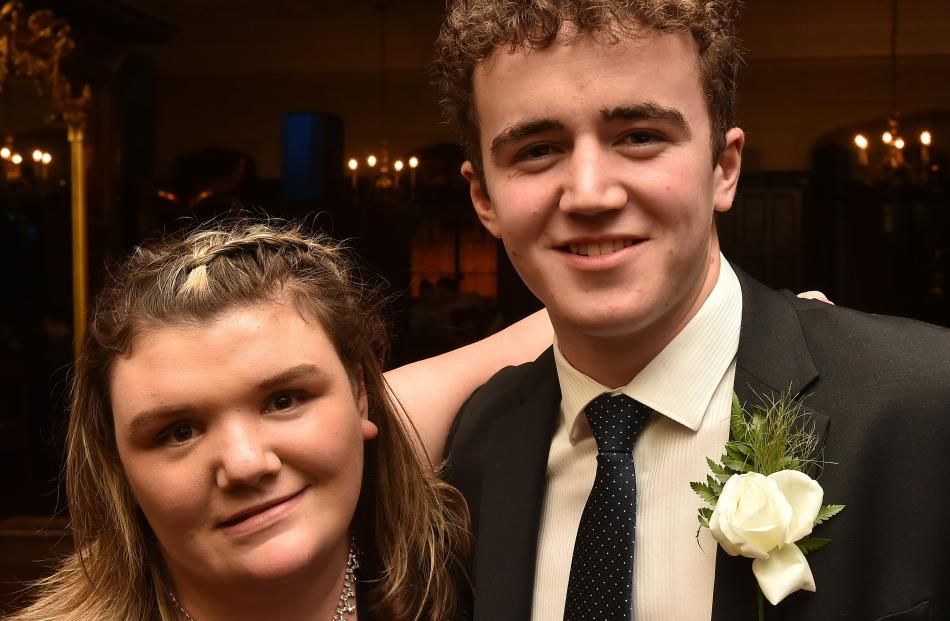 Emily Dwyer (18), from Kaikorai Valley College, and Hunter Dale (17), from Taieri College.