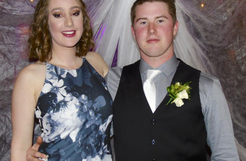 Elsa Newman (16), of Dunedin, and Joshua Reed (17), of Roxburgh.