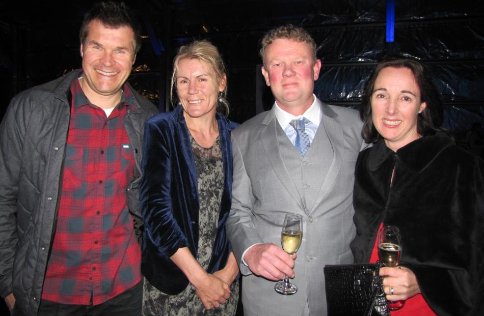 Simon and Jane Pearson, of Arrowtown, and Howie and Sarah Hinton, of Alexandra.