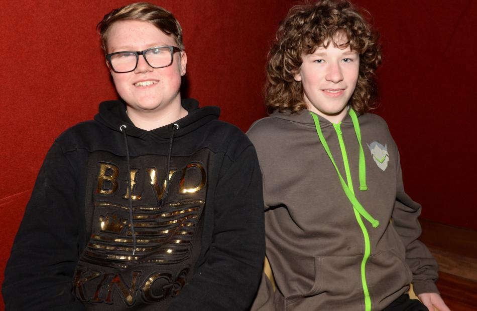 Alex Shaw and Luke Brinsdon (both 13 of Mosgiel)