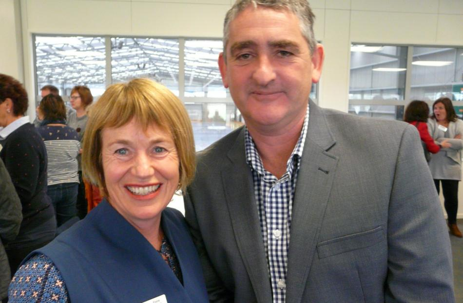 Clutha Foundation trustee Fiona Hancox and Allister Body, both of Tapanui.