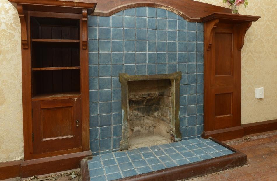 One of the original fireplaces.