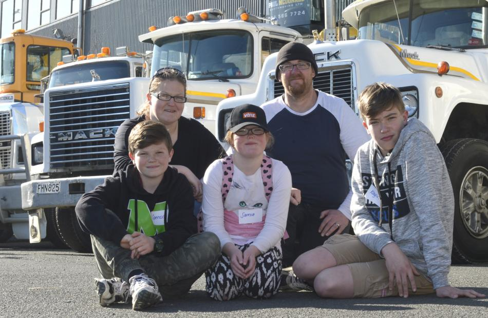 The Matthews family (from left) Spencer, Cindy, Somia, Bob and Kaylin enjoy the Special Rigs for...