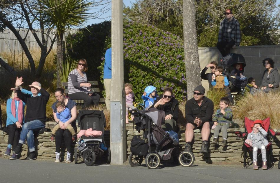 Large groups of people lined the streets of Dunedin to watch more than 200 trucks  pass in  the...