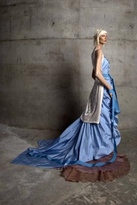"""Garments by Tanya Carlson that were part of the New Zealand Fashion Museum exhibition """"A Darker..."""