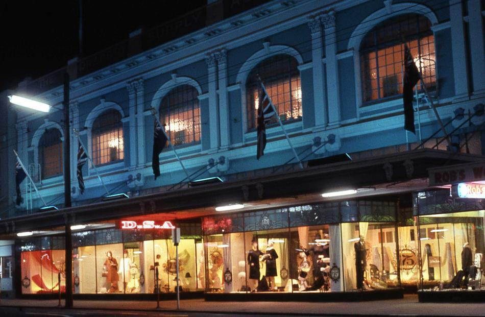 The DSA George St facade during the store's 75th anniversary celebrations in 1965. Photo:...