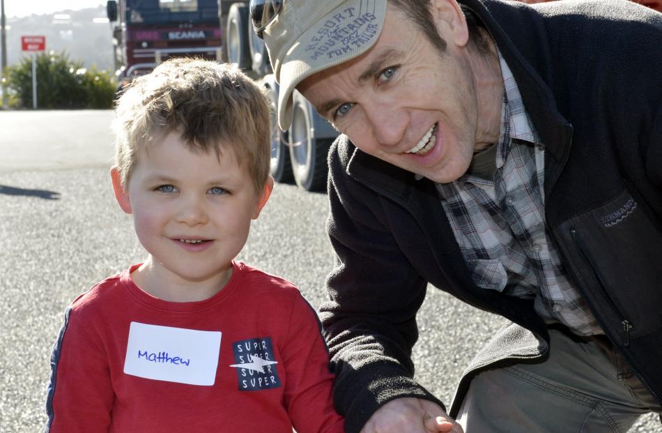 Matthew  (5) and Patrick Govaerts, of Dunedin.