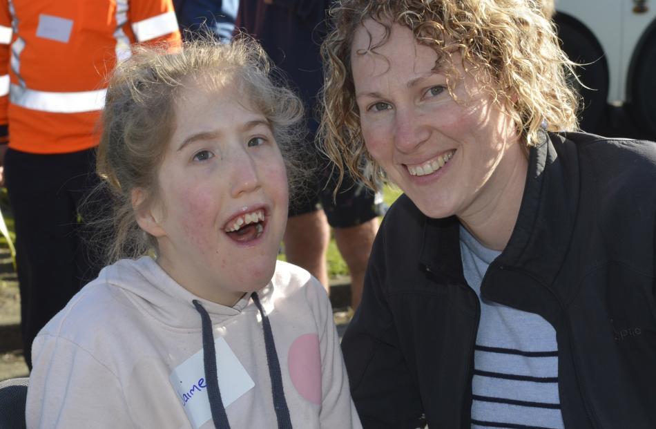 Jaime (9) and Debbie McEwan, of Dunedin.