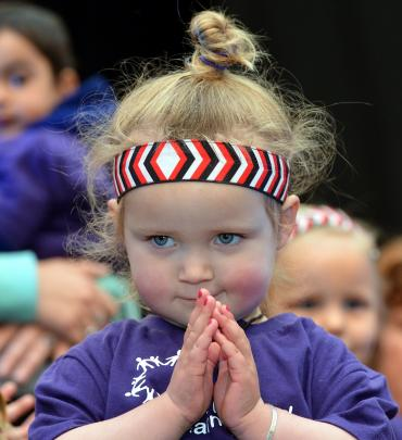 Pippa de Boer (2) represented the Dunedin Community Childcare Association at the 2014 Polyfest....