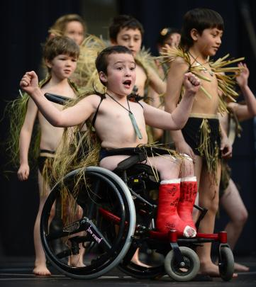 Kiringaua Cassidy (8) was still recovering from surgery when he took part in Polyfest 2012. Photo...