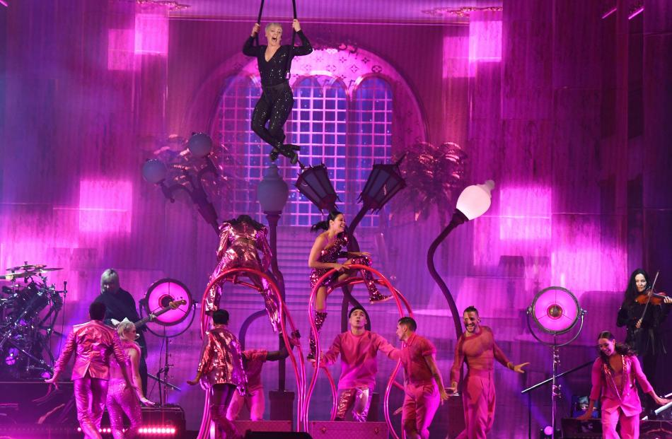 Pink wowed the crowd with her colourful, energetic show. PHOTO: STEPHEN JAQUIERY