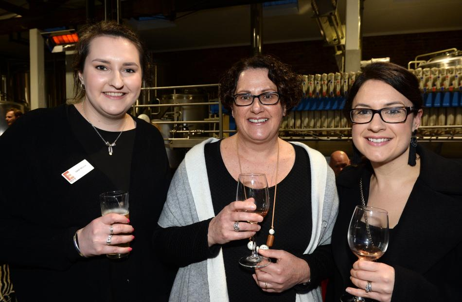 Sarah Walker, Kathryn Simpson and Jacque Donnelly, all of Dunedin.
