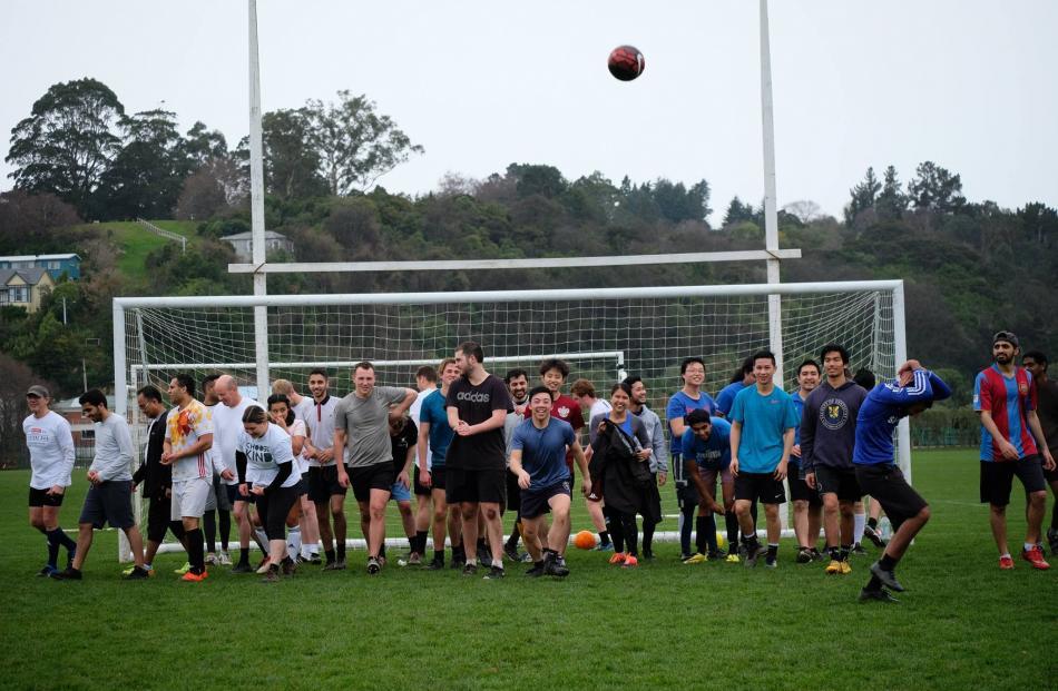 Run with Heart interfaculty football match fundraiser. Photos supplied