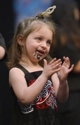 Lakoda Ross (3) was among a group of performers from Corstorphine Kindergarten.