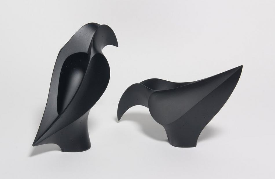 Huia Pair (black), by Mike Crawford
