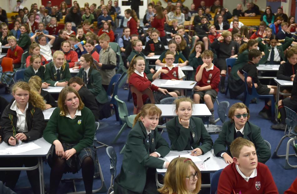 The contestants in the quiz at Bathgate Park School listen intently on Wednesday evening. Photos: Gregor Richardson