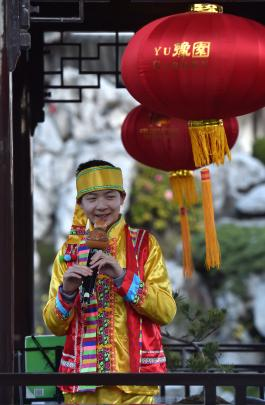 David Wang, of the Dunedin Chinese Art and Instrument Association, performed at the 10th birthday...