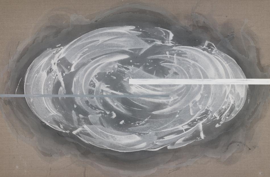 Whisper, by Gretchen Albrecht, at Hocken Gallery.