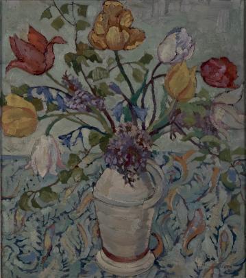 [Flower Study], by Doris Lusk, at Hocken Gallery.