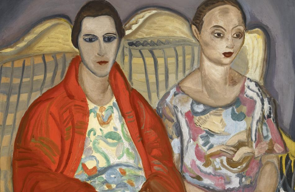 Double Portrait, by Frances Hodgkins, at Hocken Gallery.