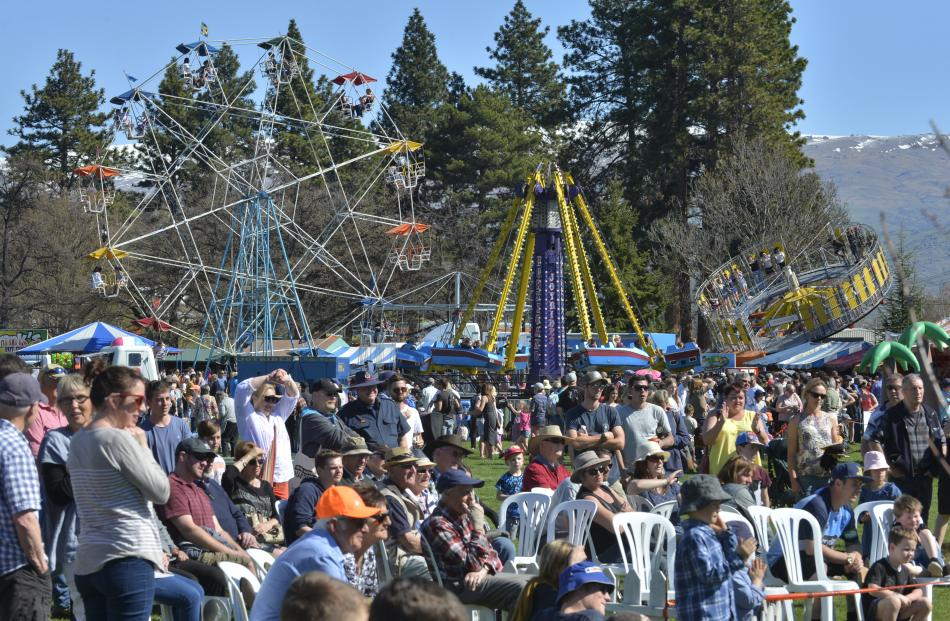 All the fun of the fair as crowds packed  Pioneer Park on Saturday.