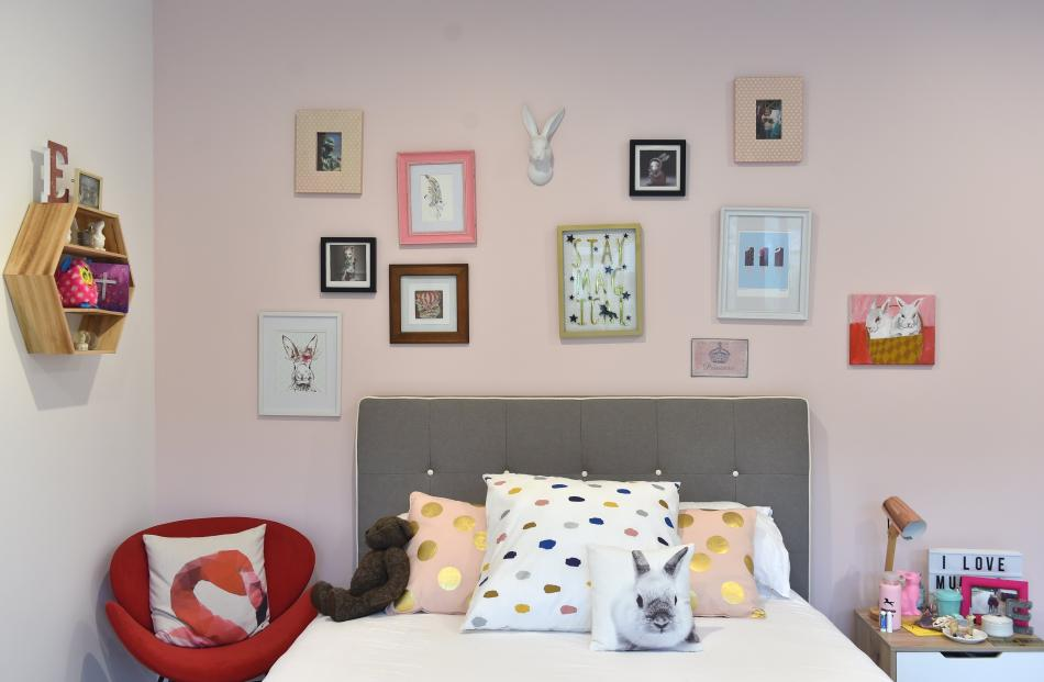 Artwork features prominently in 10-year-old Emilie's room. Leisa Barron wanted the ...