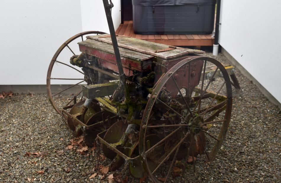 The plough and seeder which once belonged to Ash Barron's grandfather.