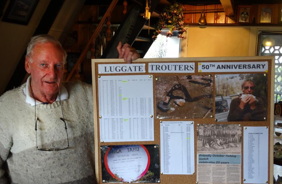 The 50th annual Luggate Fishing Tournament will occur this weekend, and founder Graham Godby ...