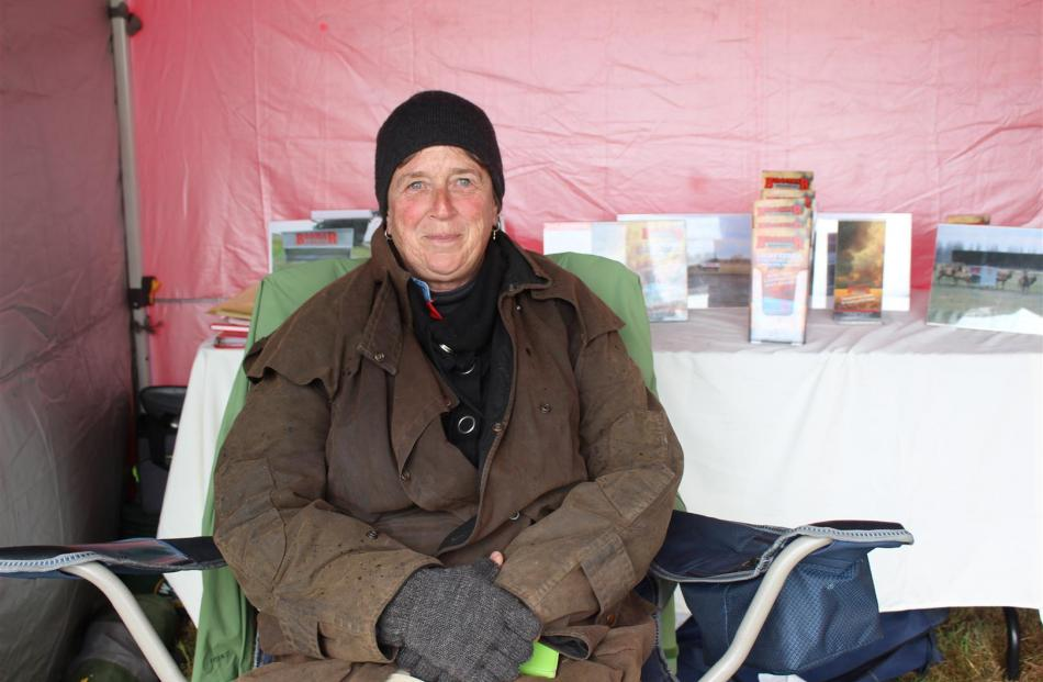 Stephanie McCullough, of Temuka, keeps warm from head to toe.