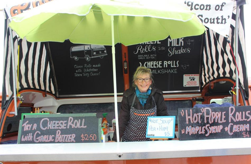 Sue Harvey, of Hampden said cheese rolls and soup were extra popular on the cold day.