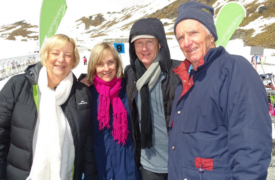 Judy Isaacs, Sharon and Greg McDermant and Graham Isaacs, all of Byron Bay.