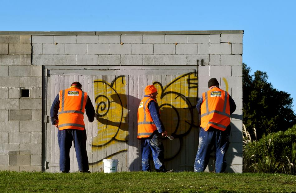 Taskforce Green's graffiti removal programme.