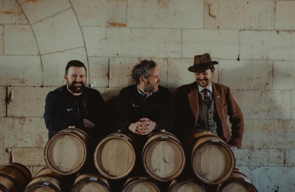 The NZ Whisky Collection Oamaru team – Matthew Hicks, Grant Finn and James Mackenzie