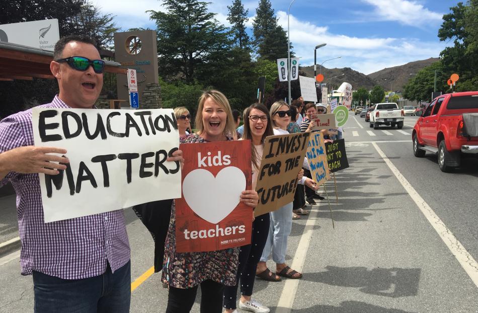 Terrace Primary School teacher and NZEI representative Mike Dalgliesh and Alexandra Primary...