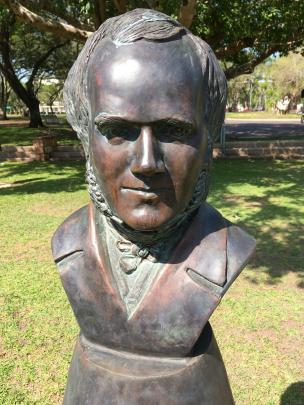 Bust of Charles Darwin in Darwin. PHOTO: PAM JONES