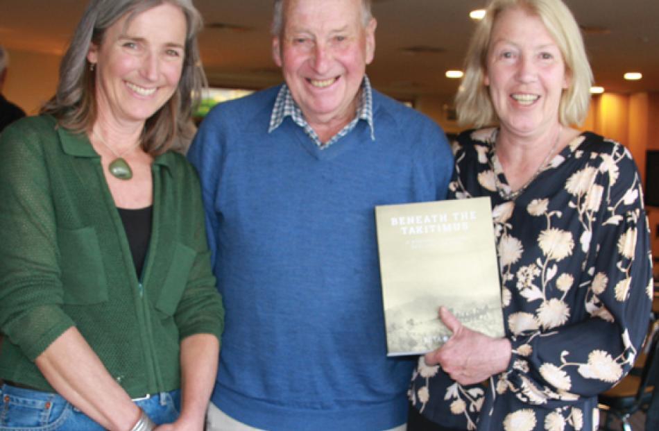 L to R: Peta Carey, Author, David Macdonald was a lifelong friend of Bridget's father Bill,...