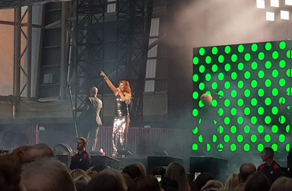 Shania Twain lit up the stage at Forsyth Barr Stadium tonight. Photo: Ben Waterworth