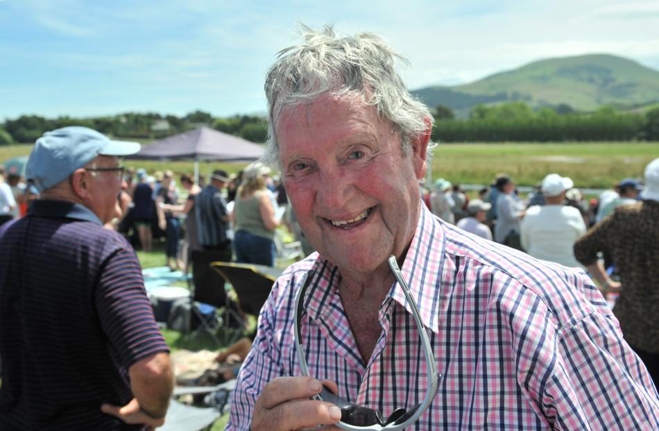 Former Waikouaiti race clerk Ray Pledger (81), of Dunedin, still enjoys the New Year's Day event...