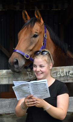 Stacey Poole, from Invercargill, and Pedro the horse.
