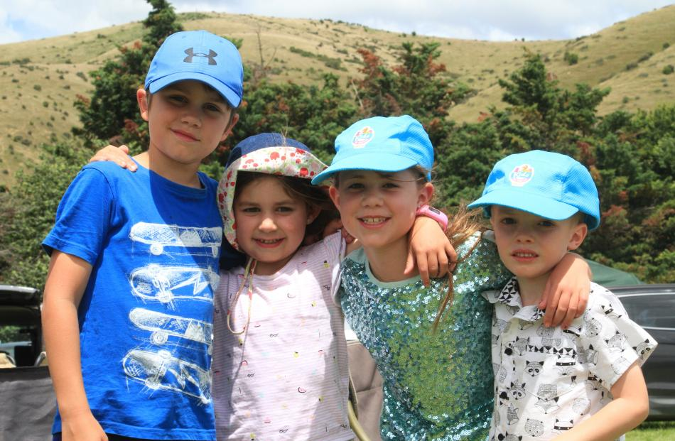 Noah (9), Sophie (6) and Olive  (8) Smith, and Tommy Cadman (5), all of Dunedin.