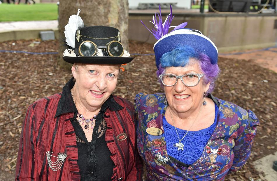 Trish Clausen  and Suzanne Mann, both of Dunedin.