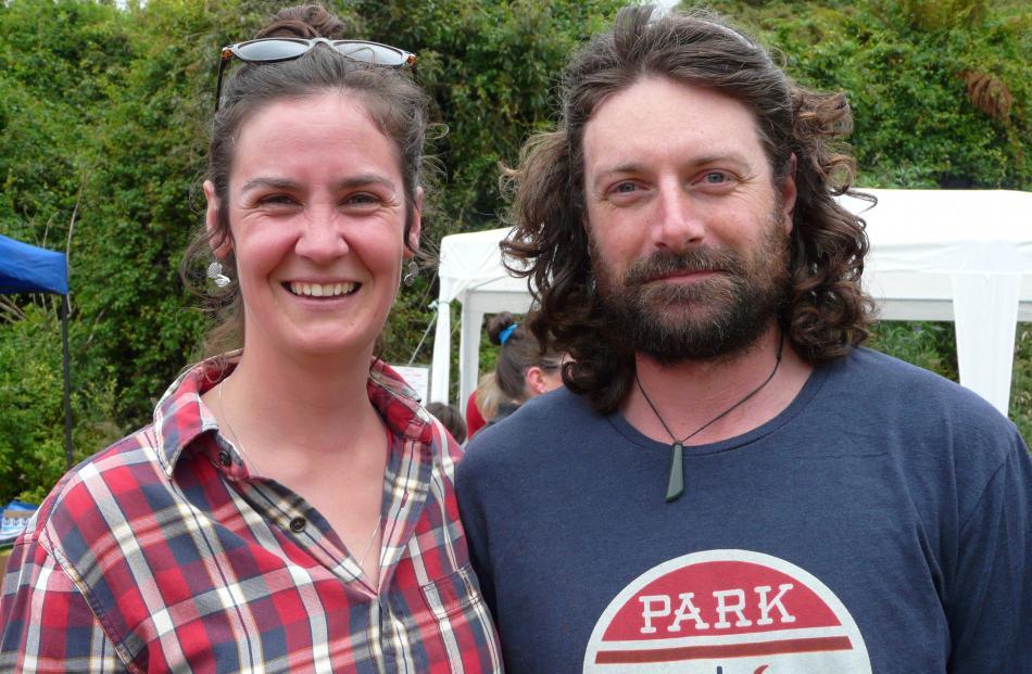 Emma Bardsley and Darryl Shanks, both  of Papatowai.