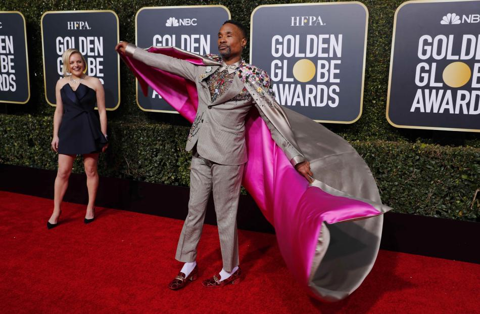 Elisabeth Moss and Billy Porter. Photo: Reuters