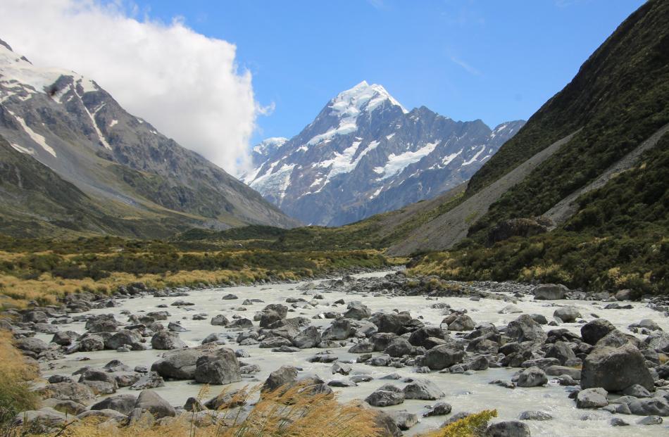 Aoraki Mt Cook, seen from the Hooker Valley Track. Photo: Melissa Merriman