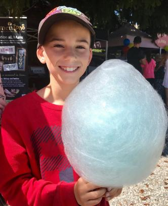 Daniel Flaszynski (10), of Christchurch, at the Lake Hayes A and P Show. PHOTO: JAN ANDERSON